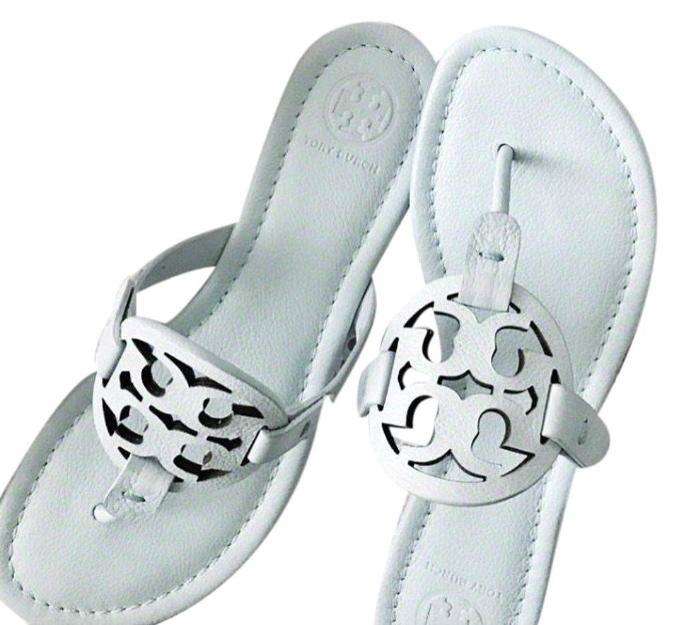 c8d8d2822 Tory Burch Seltzer Miller Leather In Seltzer  Light Blue Sandals. Size  US  8 Regular (M ...