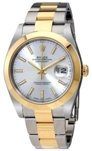 Rolex Datejust 41 Silver Dial Steel and 18K Yellow Gold Oyster Bracelet Men'