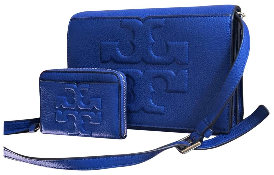 7a1ba0860 Tory Burch Bombe T Combo 2 Pcs Set and Mini Wallet Blue Leather ...