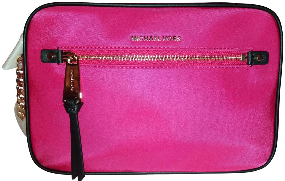 d22932160911 MICHAEL Michael Kors East West Ultra Pink Nylon Cross Body Bag - Tradesy