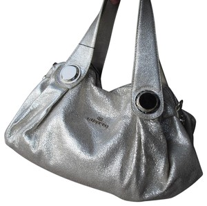 Gustto Leather Slouchy Draped Style W/ Tag Hardware W/ Shoulder Strap Hobo Bag