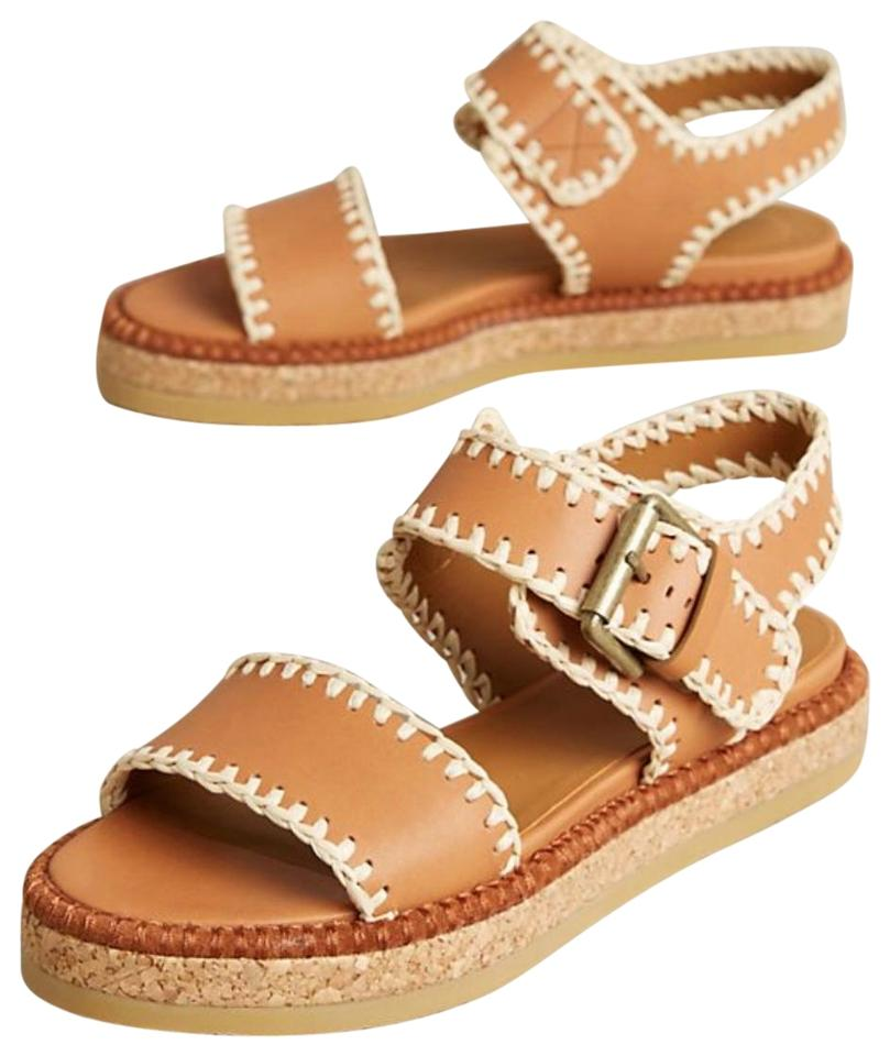 830ab698871 See by Chloé Neutral Stitched Raffia Sandals Size EU 37 (Approx. US ...