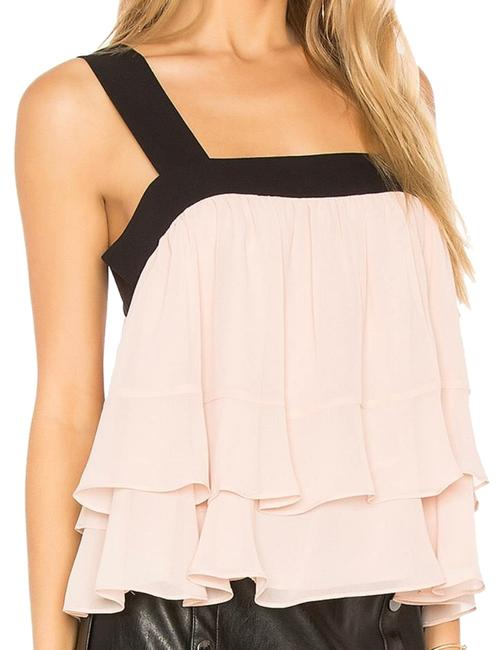 Item - Ruffled Sleeveless Shirred Bare Pink Top
