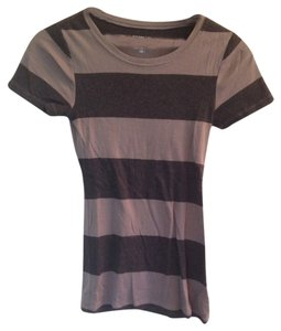 Striped T Shirt grey black