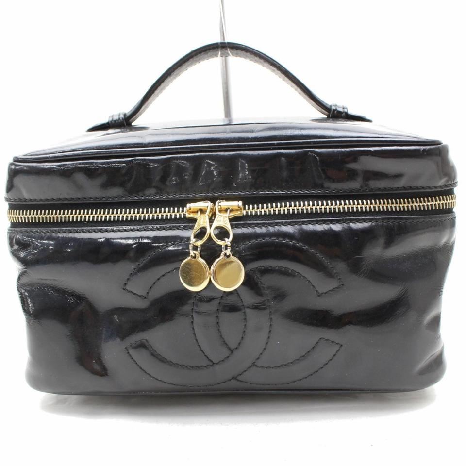 49b1d76d9e02 Chanel Vanity Case 867961 Black Patent Leather Satchel - Tradesy