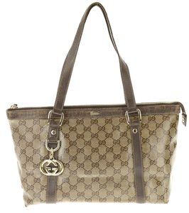 Gucci Crystallized Soho Marmont Sylvie Dionysus Tote in Brown