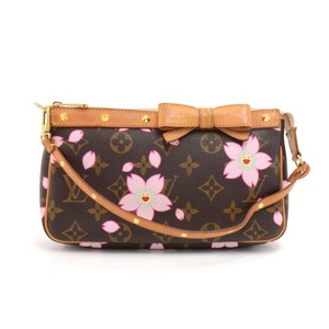 Added To Ping Bag Louis Vuitton Hobo Pochette Accessoires Monogram Cherry Blossom