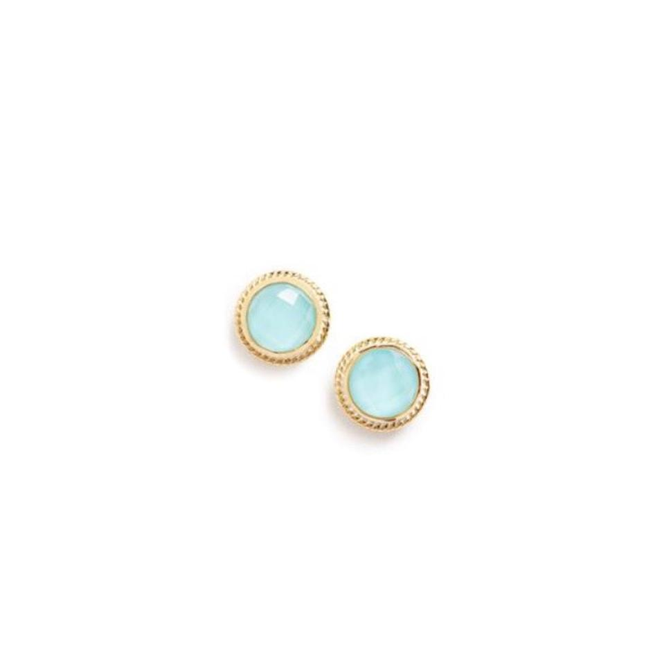 72ef771ed Anna Beck Turquoise and Gold Circle Stud Earrings - Tradesy