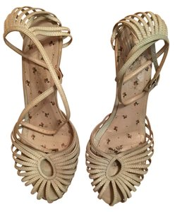 Dollhouse Vintage Summer Ankle Strap Cut-out Mint Sandals
