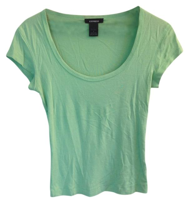 Preload https://img-static.tradesy.com/item/2407960/express-green-neon-scoop-neckline-summer-tee-shirt-size-4-s-0-0-650-650.jpg