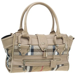 adfe03946ad6 Burberry Quilted Leather Rolled Satchel in Cream
