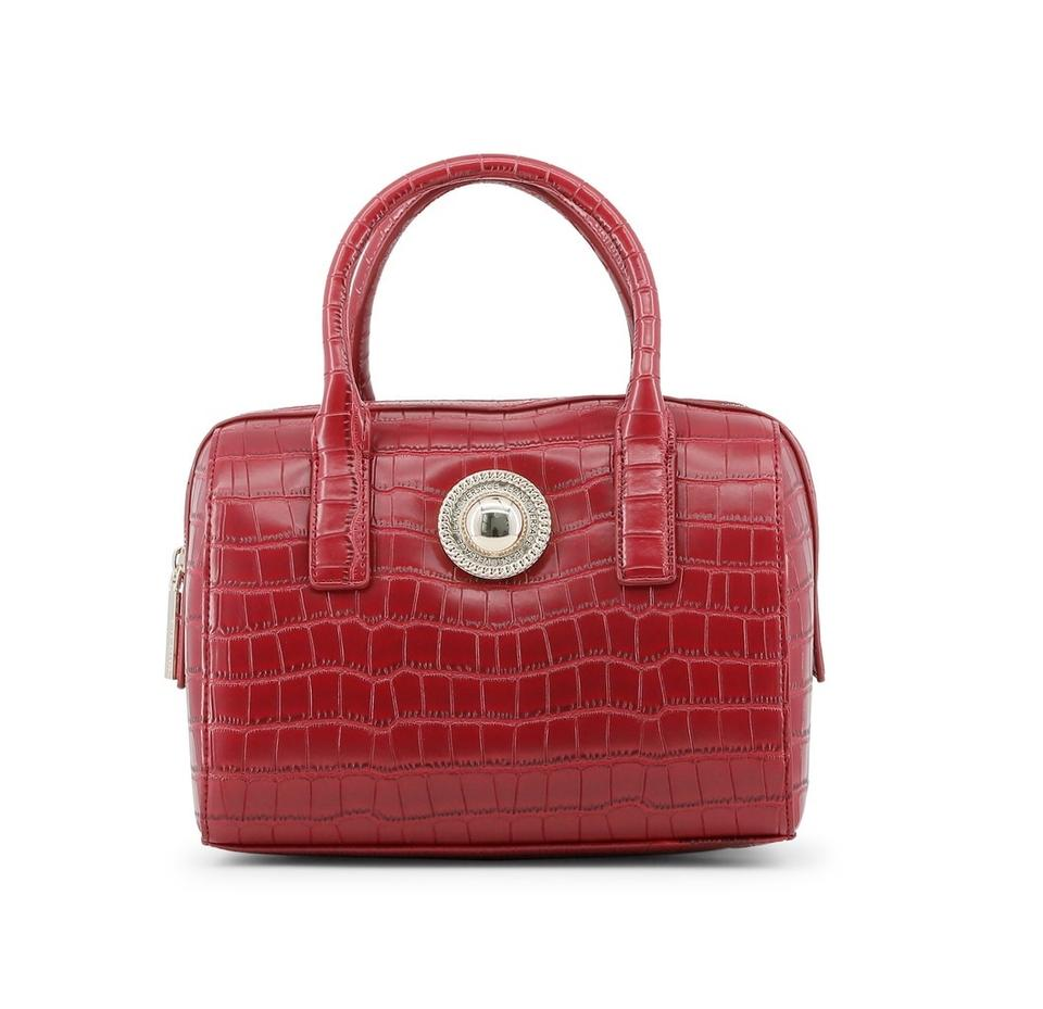 a65b226fc6c7 Versace Jeans Collection Handbag Tote Red Synthetic Leather Shoulder ...