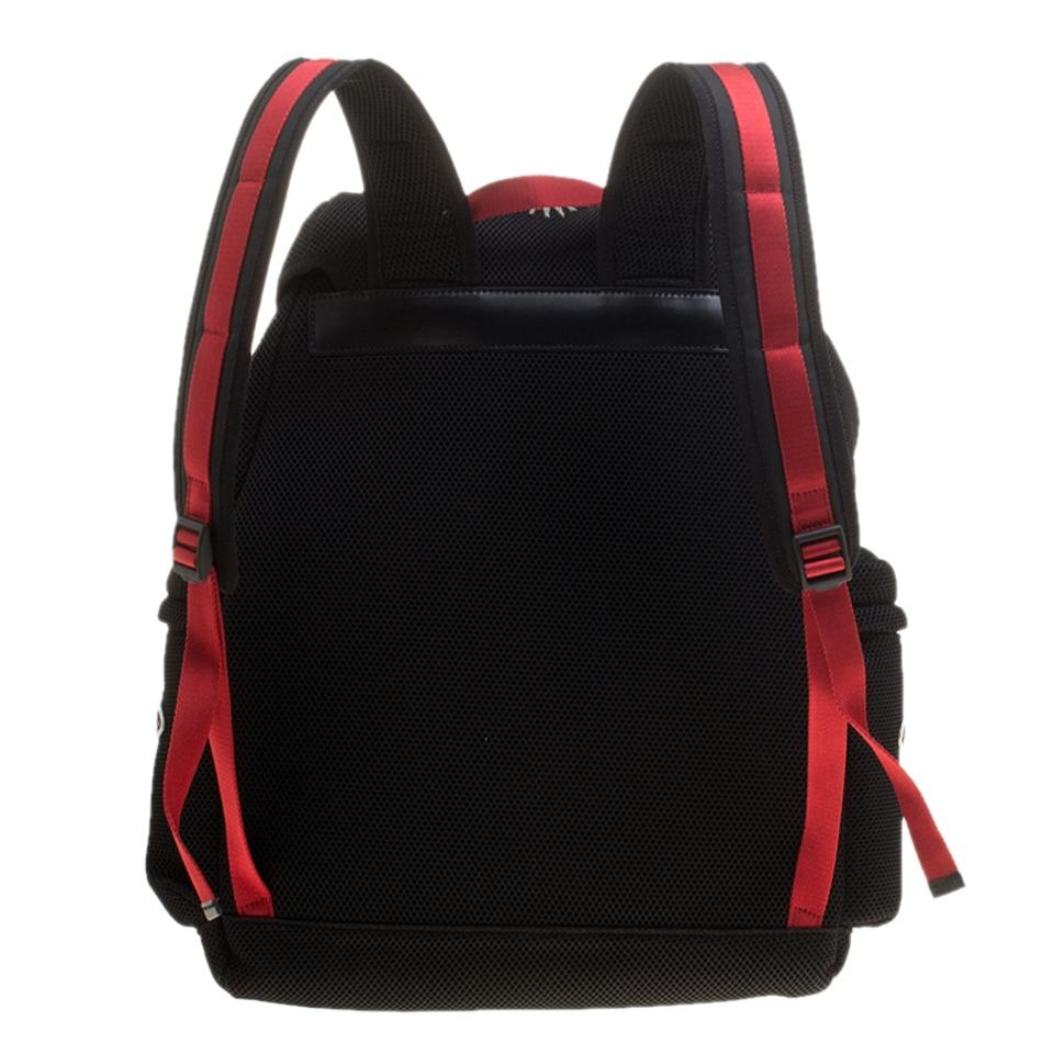 f8eafd25a4a4 Gucci Mesh Hollywood Black Nylon Backpack 37% off retail