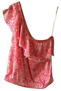 American Eagle Outfitters Top Coral, Cream