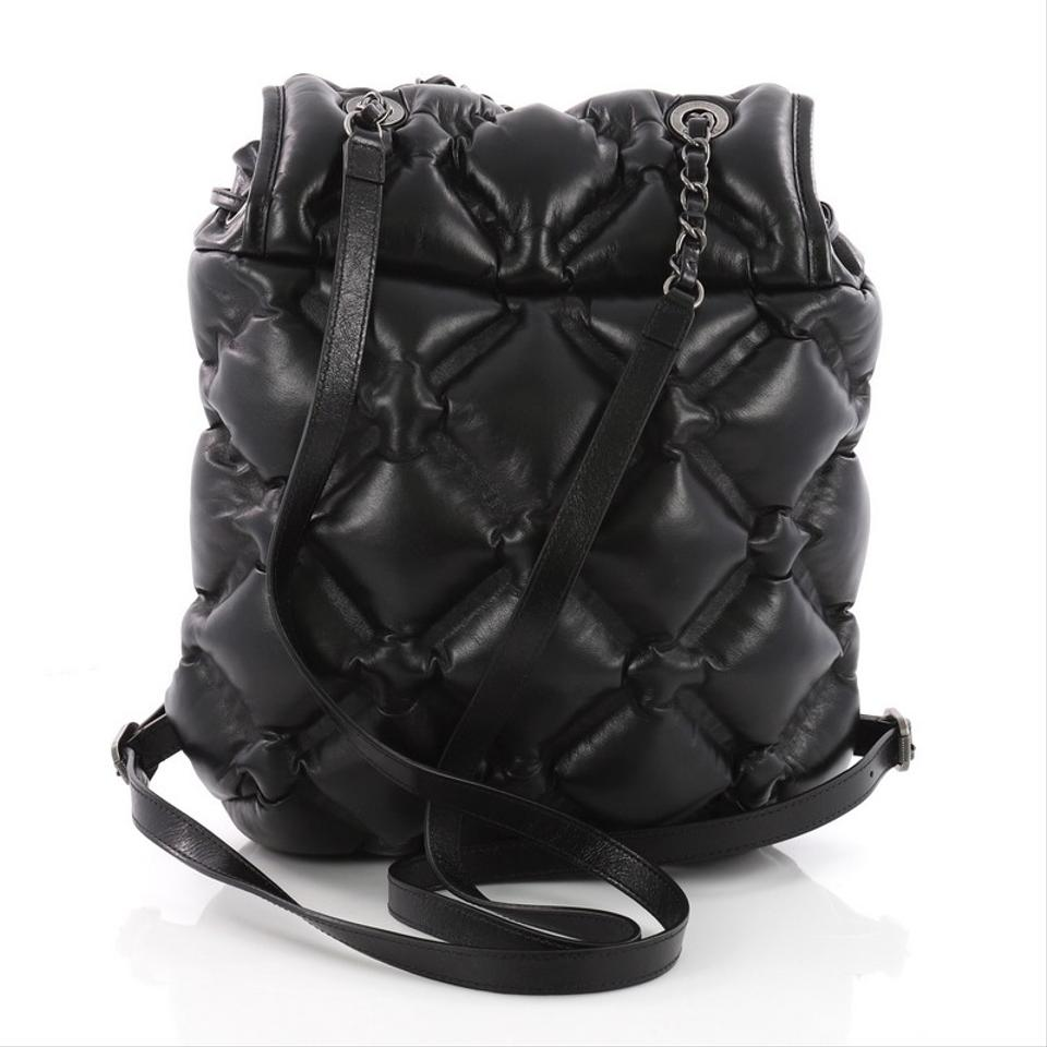 f55350604c49ea Chanel Backpack Chesterfield Quilted Calfskin Medium Black Leather Backpack  - Tradesy