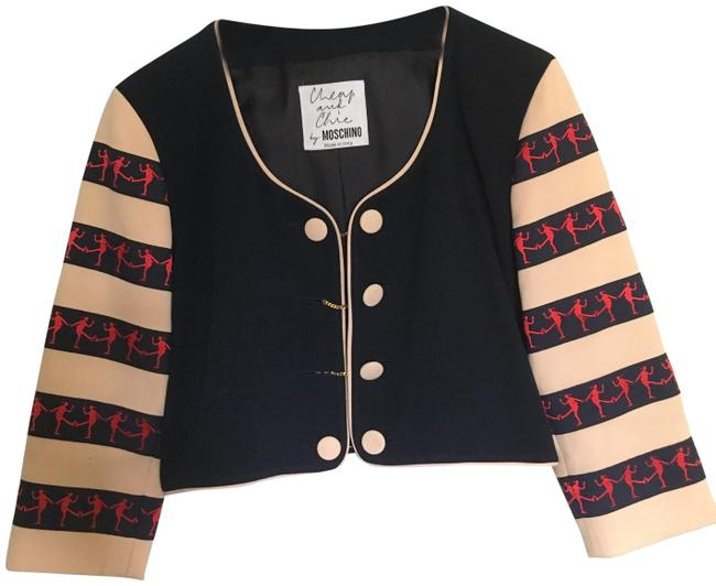 Item - Navy and Cream Cheap Chic By Blazer Size 8 (M)