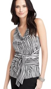 Ann Taylor Draped Night Out Striped Halter Top