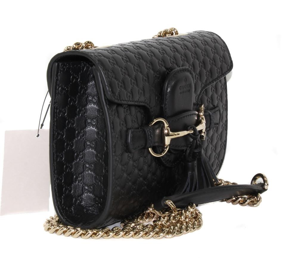 727cc624aad5 Gucci Emily Small Microguccissima Black Leather Shoulder Bag - Tradesy
