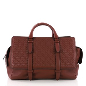Bottega Veneta Leather Satchel in Brown