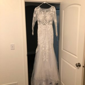 White Sexy Wedding Dress Size 6 (S)