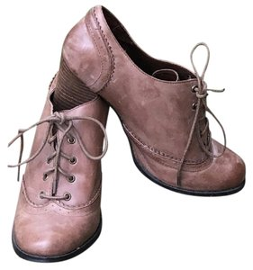 KIMMERON Oxford Leather Vintage Tan Beige Boots