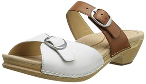 Dansko White & Caramel Sandals