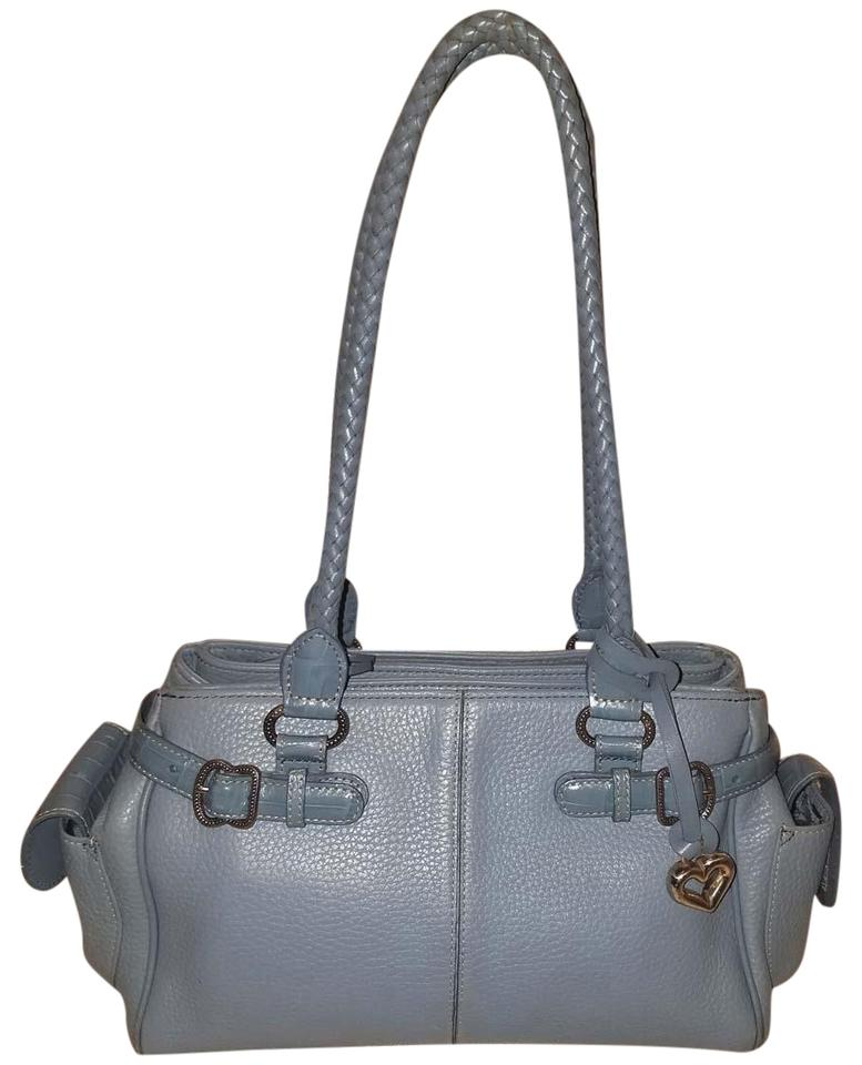 6fbce9a68dbbc Brighton Handbag Light Blue Leather Shoulder Bag - Tradesy