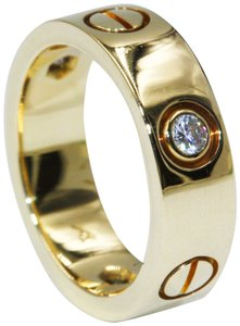 Cartier Cartier 18k Yellow Gold Love Ring 3 Diamond