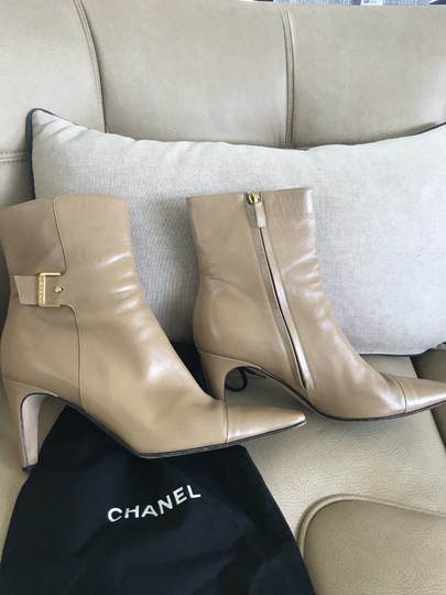 Chanel Rare Beige Boots Image 2