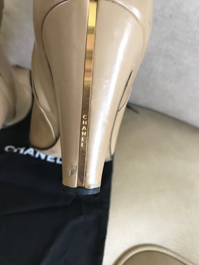 Chanel Rare Beige Boots Image 6