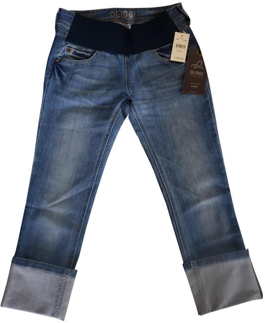 Item - Blue Medium Wash Maternity In Bowie Capri/Cropped Jeans Size 24 (0, XS)
