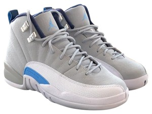 check out a2345 57d29 Air Jordan Grey/White/Blue Retro 12 Sneakers Size US 7.5 Regular (M, B)