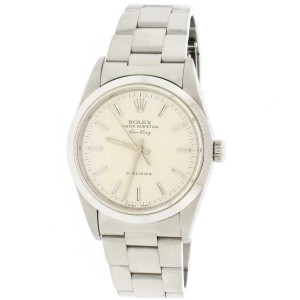 Rolex Air-King Factory Silver Index Dial 34MM Automatic Stainless 14000