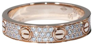 Cartier LOVE WEDDING BAND, DIAMOND-PAVED PINK GOLD, DIAMONDS