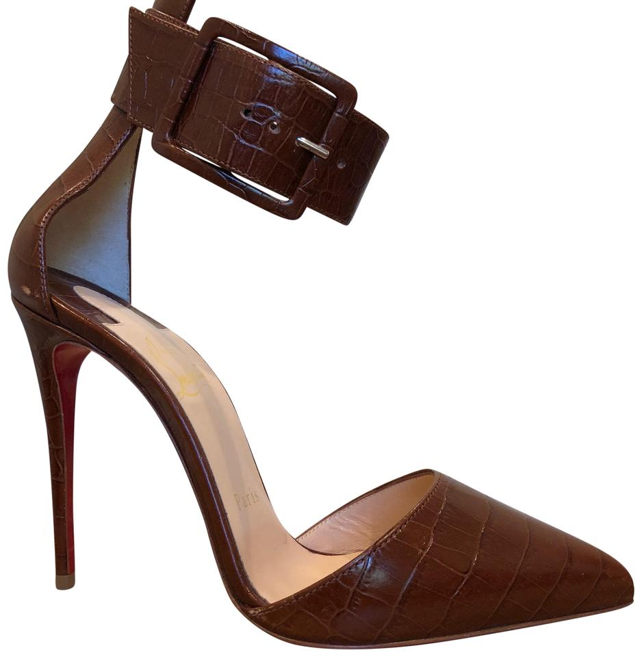 Christian Louboutin Brown Harler 100 100 Harler Pumps 3b4549