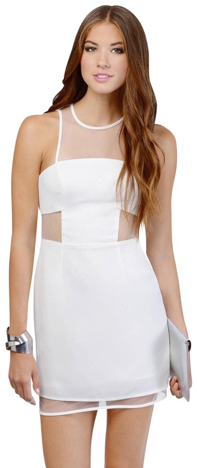 a1fd5e7e6e7 Tobi White Gridlocked Ivory Mesh Bodycon Perfect For Wedding Party Hour New  Years Eve Cocktail Dress