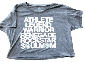 SoulCycle T Shirt Gray, white