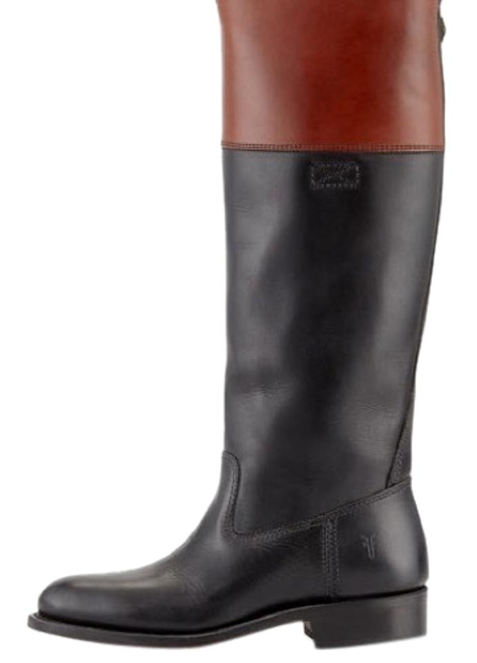 24ffcae87 Frye Brown Jet Leather Riding Boots/Booties Size US 6 Regular (M, B ...