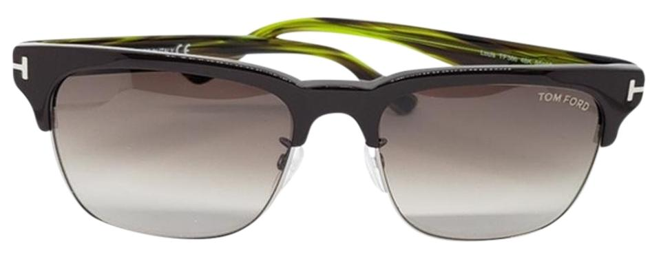 9cf22b3279b1 Tom Ford Louis Brown   Green Unisex Square Plastic Frame with Gradient Lens  Sunglasses