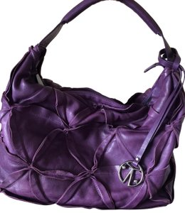 Coccinelle Italian Stitched Slouch Hobo Shoulder Bag