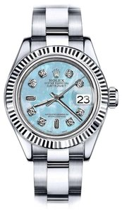 Rolex Rolex 26mm Datejust Baby Blue MOP Mother Of Pearl 8+2 Diamond Dial