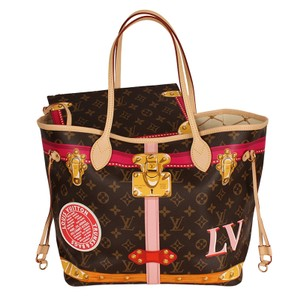 f30a00f8a55f Louis Vuitton Neverfull Trunks Limited Edition 6594 Multicolor Canvas Tote