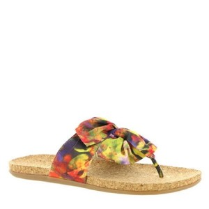 Kenneth Cole Floral Bow Multi Sandals