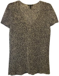 Eileen Fisher Cotton Blend V-neck Short Sleeve Sweater