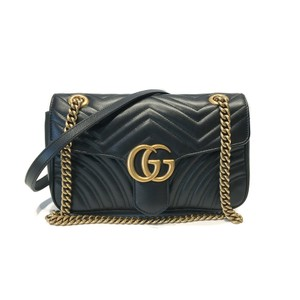 8b3998bbc Added to Shopping Bag. Gucci Shoulder Bag. Gucci Marmont Gg Small Matelassé Black  Leather ...