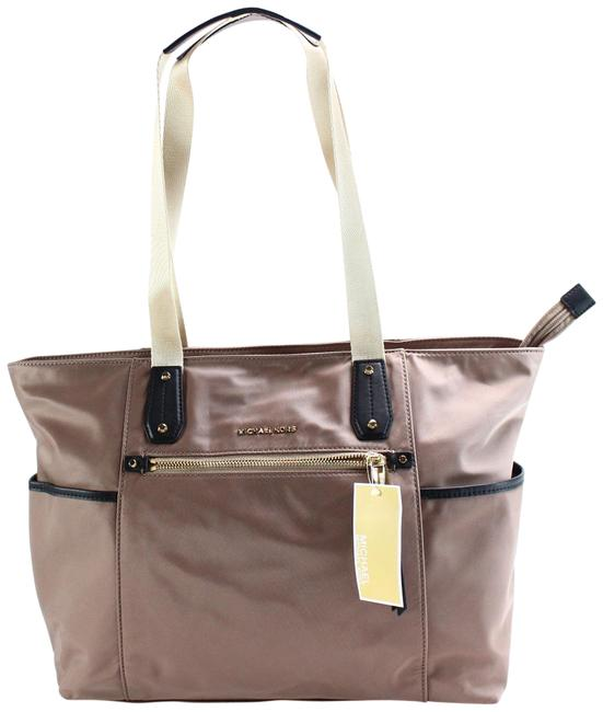 Item - New Dune Gold Polly Top Zip Large Beige Nylon Tote