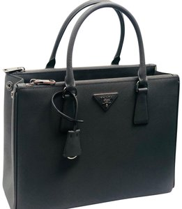 ad8984183077 Added to Shopping Bag. Prada Large Designer Tote in gray. Prada Lux Double  Large Zip Gray Leather Tote