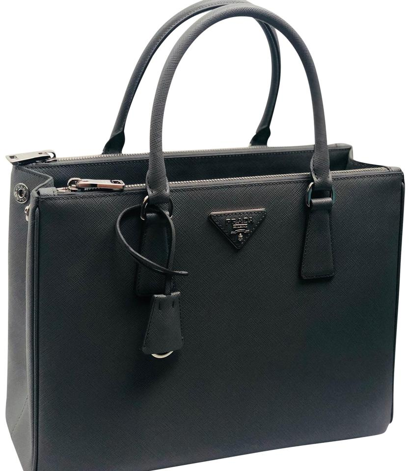 9611a88bfbea Prada Lux Double Large Zip Gray Leather Tote - Tradesy