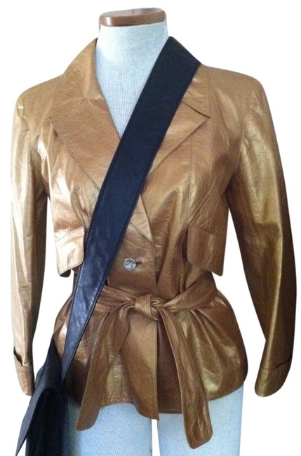 Chanel Gold Leather Jacket Image 0
