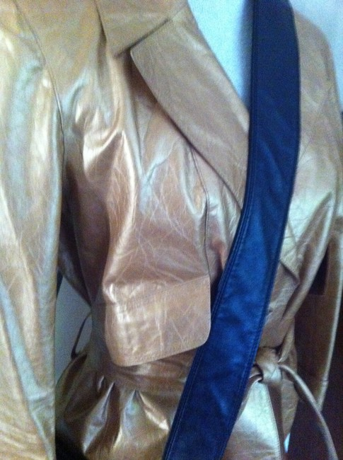 Chanel Gold Leather Jacket Image 3